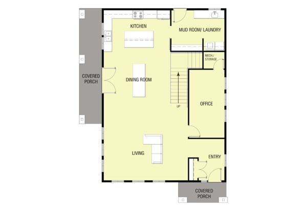 Modern Floor Plan - Main Floor Plan Plan #1068-5