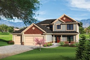 Ranch Exterior - Front Elevation Plan #70-1099