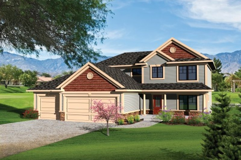 Ranch Exterior - Front Elevation Plan #70-1099 - Houseplans.com