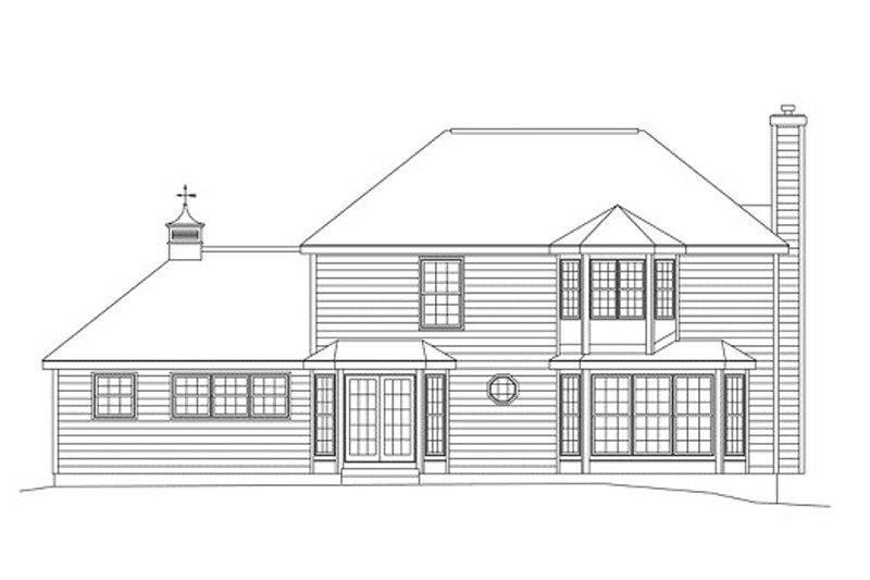 Colonial Exterior - Rear Elevation Plan #57-206 - Houseplans.com