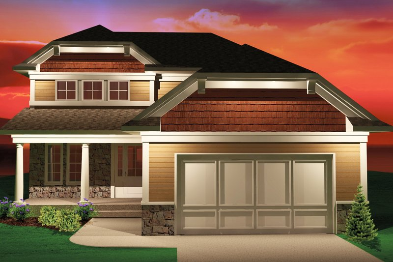 Bungalow Exterior - Front Elevation Plan #70-1069