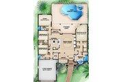 Mediterranean Style House Plan - 3 Beds 3 Baths 2756 Sq/Ft Plan #27-441 Floor Plan - Main Floor Plan