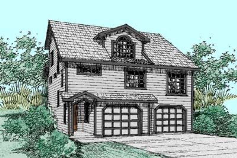 Craftsman Exterior - Front Elevation Plan #60-428