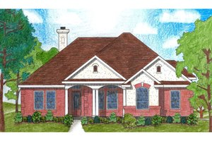 Dream House Plan - Traditional Exterior - Front Elevation Plan #80-111