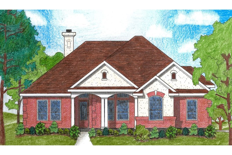 Traditional Exterior - Front Elevation Plan #80-111