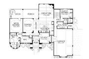 Mediterranean Style House Plan - 4 Beds 4 Baths 3537 Sq/Ft Plan #80-209 Floor Plan - Main Floor Plan