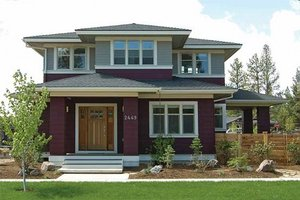 Dream House Plan - Prairie Exterior - Front Elevation Plan #434-2