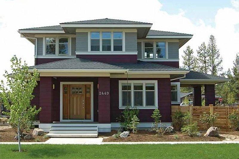 Home Plan - Prairie Exterior - Front Elevation Plan #434-2