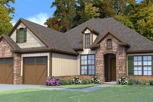 Traditional Exterior - Front Elevation Plan #63-382