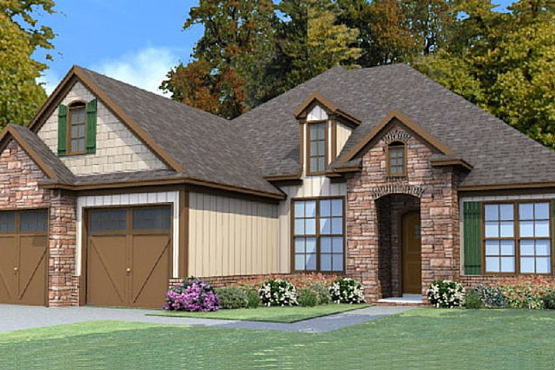 Traditional Style House Plan - 4 Beds 2 Baths 2064 Sq/Ft Plan #63-382 Exterior - Front Elevation