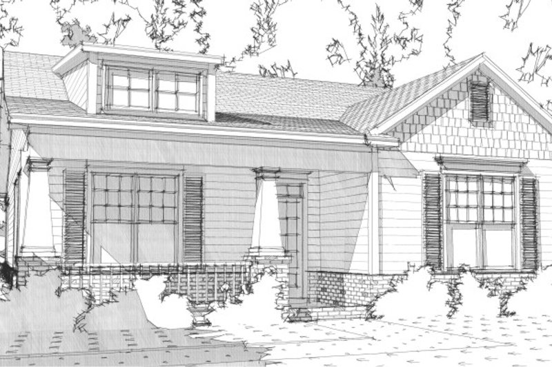 Bungalow Style House Plan - 2 Beds 2 Baths 1367 Sq/Ft Plan #63-284 Exterior - Front Elevation