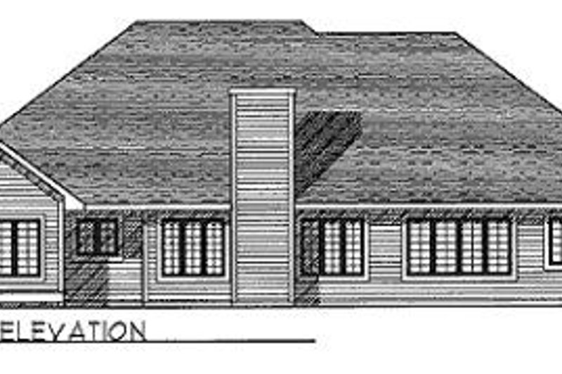Traditional Exterior - Rear Elevation Plan #70-375 - Houseplans.com