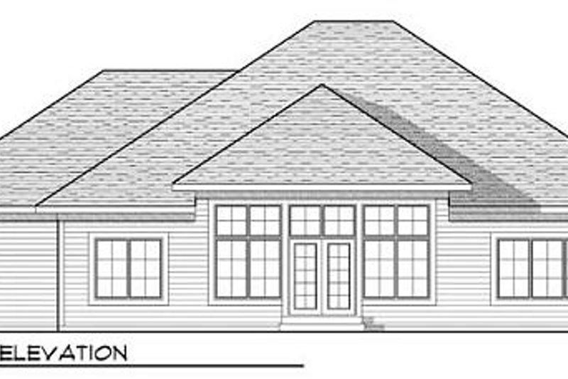 Country Exterior - Rear Elevation Plan #70-921 - Houseplans.com