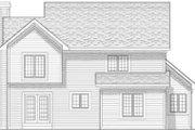 Mediterranean Style House Plan - 4 Beds 3.5 Baths 1817 Sq/Ft Plan #70-642 Exterior - Rear Elevation