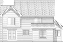 House Design - Mediterranean Exterior - Rear Elevation Plan #70-642