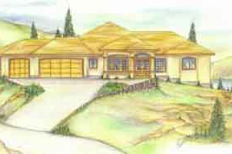 Traditional Exterior - Front Elevation Plan #117-221 - Houseplans.com