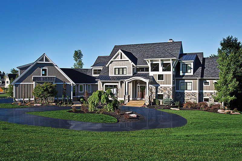 Craftsman Exterior - Front Elevation Plan #928-224