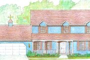 Traditional Style House Plan - 4 Beds 2.5 Baths 2234 Sq/Ft Plan #421-118 Exterior - Front Elevation