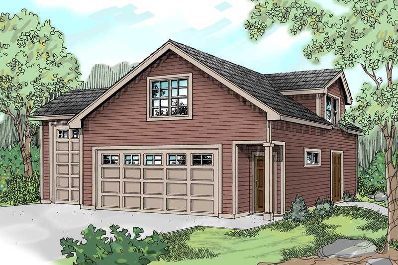 Traditional Exterior - Front Elevation Plan #124-641 - Houseplans.com