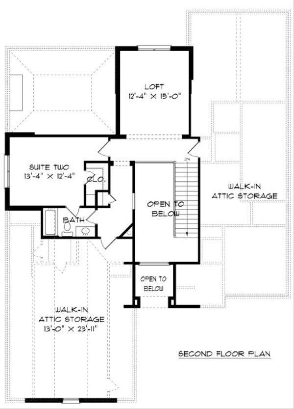 European Floor Plan - Upper Floor Plan Plan #413-875