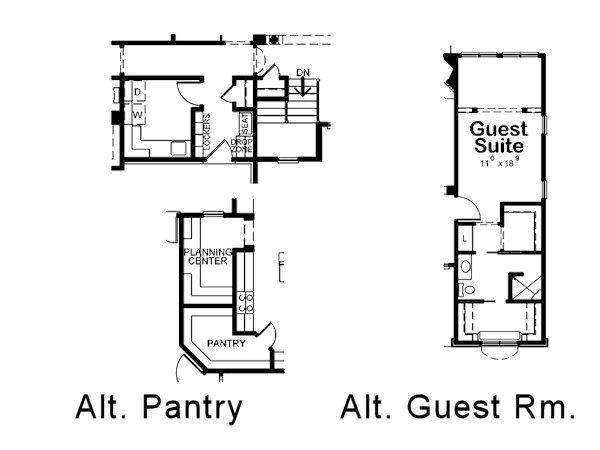Traditional Floor Plan - Other Floor Plan Plan #20-2088