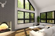 Modern Style House Plan - 3 Beds 2 Baths 824 Sq/Ft Plan #23-602 Interior - Family Room