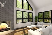 Architectural House Design - Modern Interior - Family Room Plan #23-602