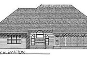 Traditional Style House Plan - 3 Beds 2 Baths 2171 Sq/Ft Plan #70-325 Exterior - Rear Elevation