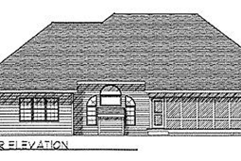 Traditional Exterior - Rear Elevation Plan #70-325 - Houseplans.com