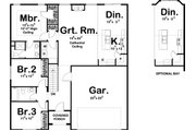 Ranch Style House Plan - 3 Beds 2 Baths 1438 Sq/Ft Plan #455-225 Floor Plan - Main Floor Plan