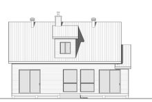 Cottage Exterior - Rear Elevation Plan #23-2313