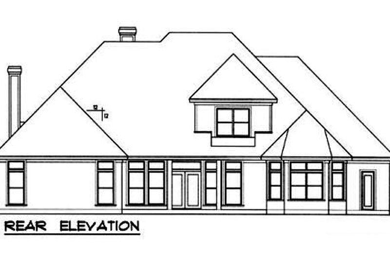 European Exterior - Rear Elevation Plan #40-238 - Houseplans.com