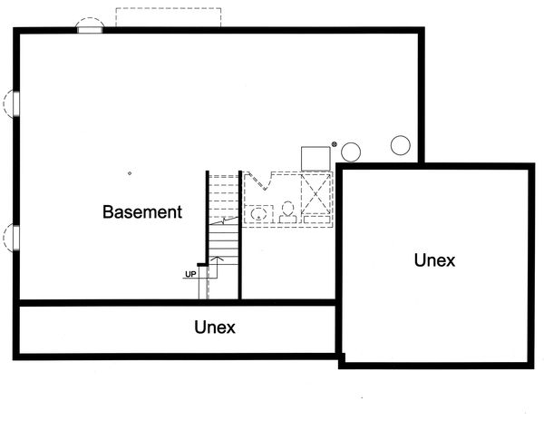 Home Plan - Unfinished Basement