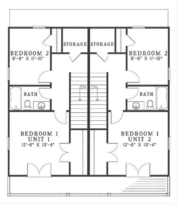 Home Plan - Southern Floor Plan - Upper Floor Plan #17-2270