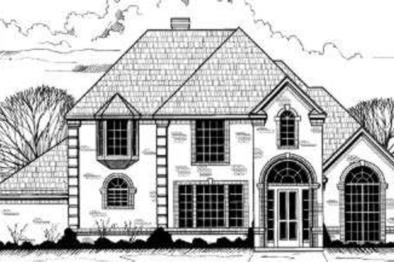 European Exterior - Front Elevation Plan #317-102
