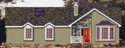 Ranch Exterior - Front Elevation Plan #3-135