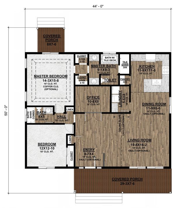 Farmhouse Floor Plan - Main Floor Plan #1077-5