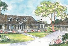 Home Plan - Farmhouse Exterior - Front Elevation Plan #124-214
