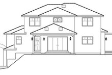 Architectural House Design - Mediterranean Exterior - Rear Elevation Plan #124-863