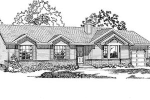 Ranch Exterior - Front Elevation Plan #47-250