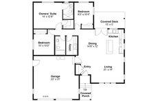 Ranch Floor Plan - Main Floor Plan Plan #124-918