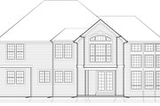 European Style House Plan - 4 Beds 2.5 Baths 3402 Sq/Ft Plan #48-546 Exterior - Rear Elevation
