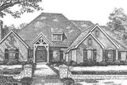 European Style House Plan - 4 Beds 3.5 Baths 3817 Sq/Ft Plan #310-506 Exterior - Front Elevation