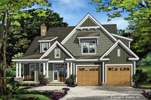 Farmhouse Exterior - Front Elevation Plan #929-1035