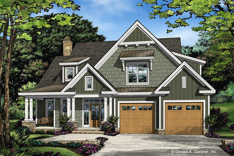 House Plan Design - Farmhouse Exterior - Front Elevation Plan #929-1035