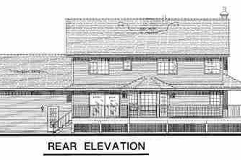 Country Exterior - Rear Elevation Plan #18-260 - Houseplans.com