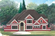 Southern Exterior - Front Elevation Plan #119-222