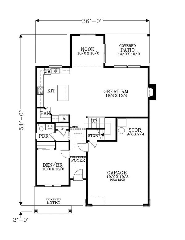 House Plan Design - Craftsman Floor Plan - Main Floor Plan #53-650