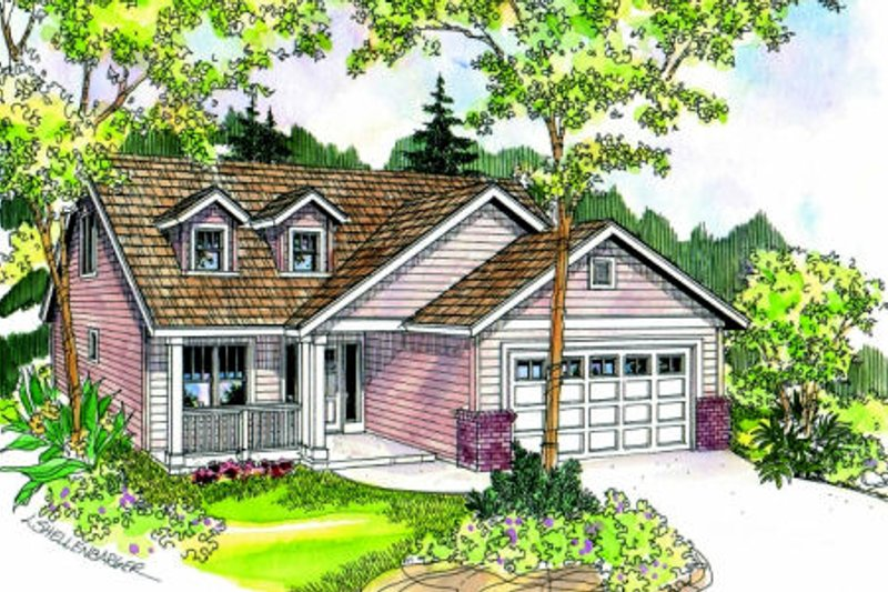 Exterior - Front Elevation Plan #124-684