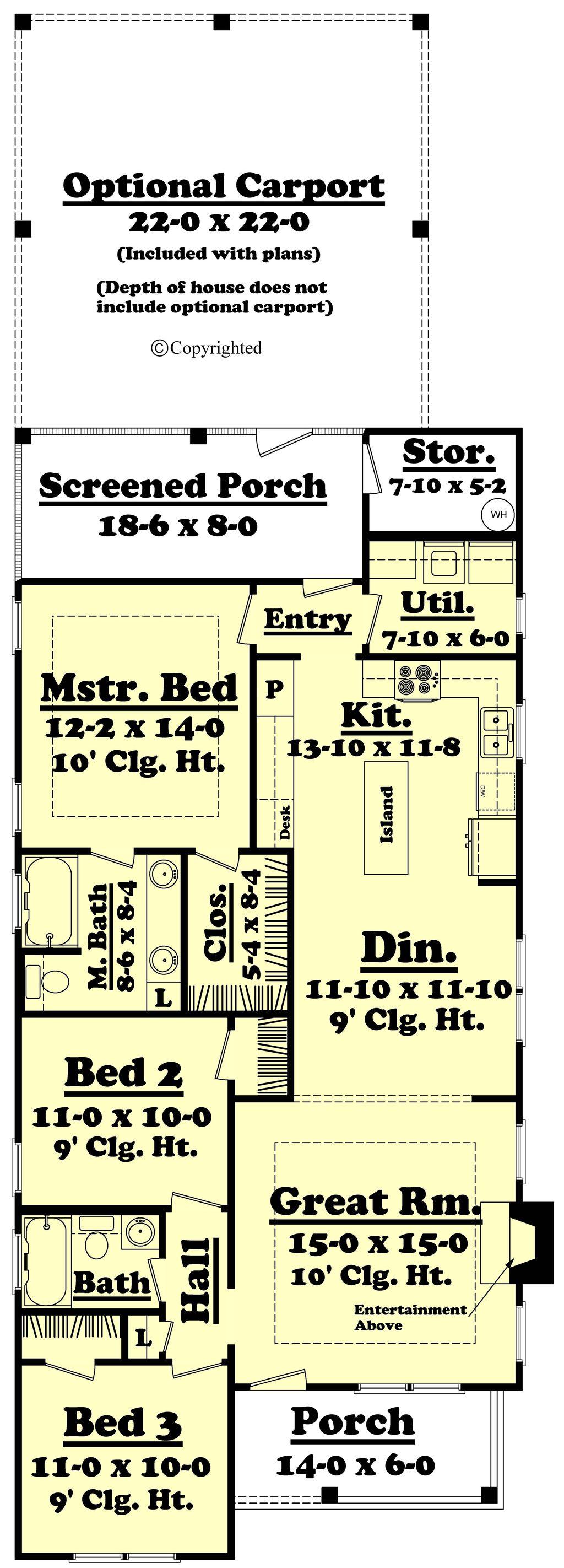 Cottage Style House Plan 3 Beds 2 Baths 1300 Sq Ft Plan 430 40 Houseplans Com